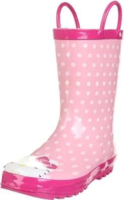 Western Chief Hello Kitty Polka Dotted Cutie Rain Boot (Toddler/Little Kid/Big Kid),Pink,6 M US Toddler