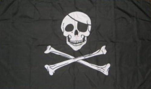 Bandera pirata con calavera y huesos cruzados, para barco y casa del árbol, 45 x 30 cm: Amazon.es: Hogar