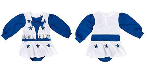 LSA Dallas Football Toddler Girls Royal Blue and White Cheer Uniform - 4T ()