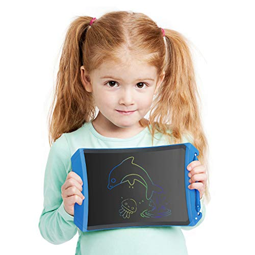 Dreamingbox Educational Toys for 4-8 Year Old Boys, LCD Writing Tablet for Kids Toddler Teen Birthday Gifts for 8-12 Year Old Girls Learning Toys for 3-12 Year Old Boys Girls Blue TGUSDSXB12 (Best Tablet For Five Year Old)
