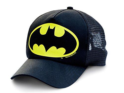 Logoshirt Gorra Batman Logotipo - DC Comics - Visera Batman Logo - Original de la Marca Negro - Diseño Original con Licencia: Amazon.es: Ropa y accesorios