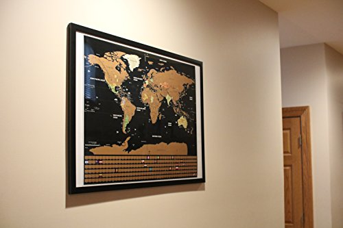 Scratch Off Map of the World XL Poster - Deluxe Extra Large 32 x 23