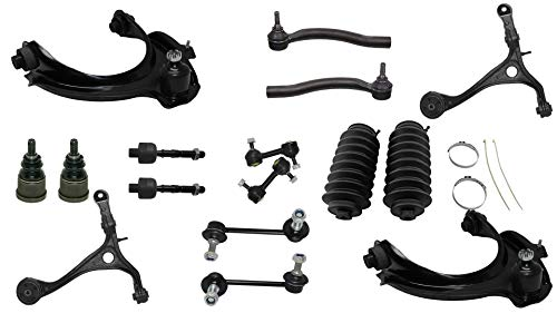 Detroit Axle - 16PC Front Upper Lower Control Arms, Lower Ball Joints, Sway Bars, Inner Outer Tie Rods w/Boot for 2003-2007 Honda Accord 2.4L Sedan Coupe - [2004-2008 Acura TSX] ()