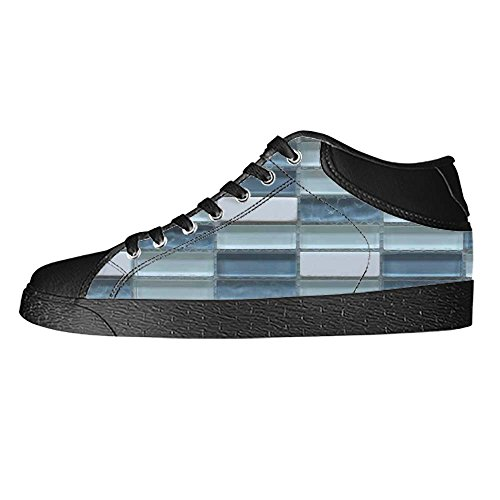 Dalliy Glas Mosaik Fliesen Textur Mens Canvas shoes Schuhe Lace-up High-top Sneakers Segeltuchschuhe Leinwand-Schuh-Turnschuhe C