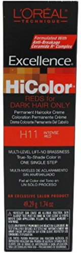 L'Oreal Excellence HiColor Intense Red, 1.74 oz (L Oreal Excellence Hicolor For Dark Hair)