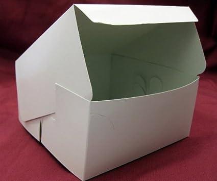AVM 100 Cajas para Magdalenas de Hadas Blancas para Magdalenas de 15,24 x 15