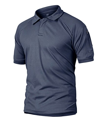 TBMPOY Men's Regular Fit Quick-Dry Golf Polo Shirt Professional Classic Tee Shirt(Navy,us - Shirt L/s Mens Firefighter