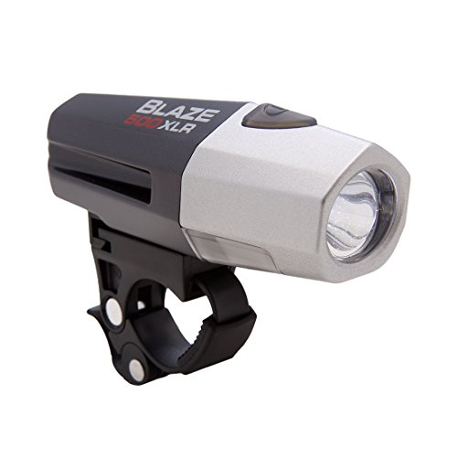 Planet Bike Blaze 500 XLR Rechargeable Headlight, Black/Grey For Sale