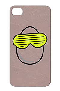 Funky Egg Strip Egg Glasses Miscellaneous Chicken Brooding Funny Cool Witty Funny Cheeky Case Cover For Iphone 4 Yellow TPU