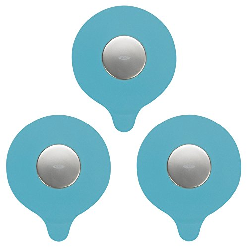 OXO Tot Silicone Tub Drain Stopper- Aqua (Set of 3) by OXO