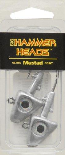 1 Ounce Jig Heads - Big Hammer Jig Head with 4/0 Hook, Plain, 1-Ounce