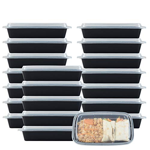 (NutriBox [20 Value Pack] Single 1 compartment 28 OZ Meal Prep Plastic Food Storage Containers with lids- BPA Free Reusable Lunch Bento Box - Microwave, Dishwasher and Freezer Safe)