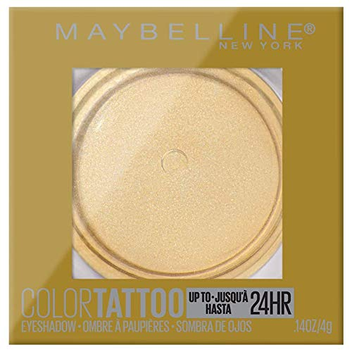 Maybelline New York Color Tattooup to 24Hr Longwear Waterproof Fade Crease Resistant Blendable Cream Eyeshadow Pots Makeup, Golden Girl, 0.14 oz