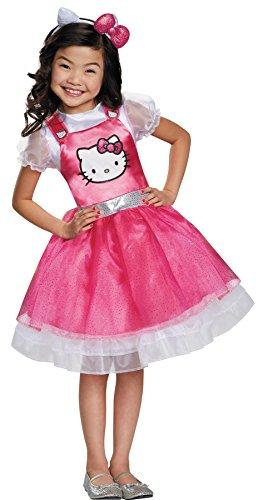 UHC Deluxe Girls Hello Kitty Theme Fancy Dress Child Halloween Costume, Child M (Hello Kitty Halloween Costume Infant)