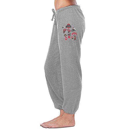 Dalymz Woman Osu Ohio State Buckeyes Logo Sweatpants Personalized Causal M Ash