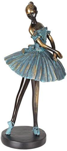 Decorative Sculpture - Ballerina in Verde Bronze 12