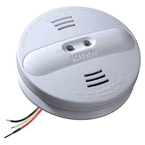 Kidde PI2010 Smoke Alarm Dual Sensor with Battery Backup, White - Photoelectric Ionization Smoke Detectors