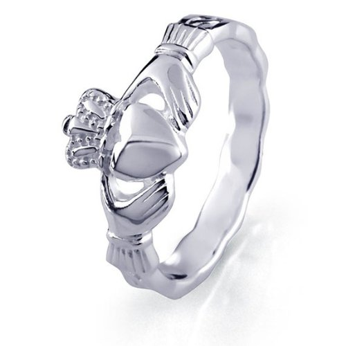 Ladies Sterling Silver Claddagh Ring LS-RS337. Made in Ireland. (6)