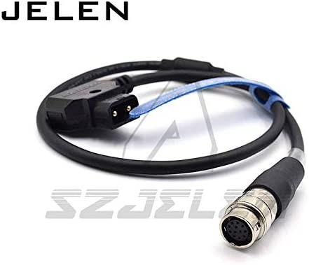 Gimax 12 Pin Hirose to dtap Coiled Power Cable for B4 2//3 Fujinon Canon Lens