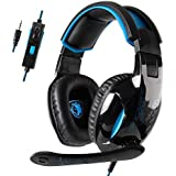 SADES SA816 Gaming Headset Stereo 3.5mm Playstation 4 Xbox one Gaming Headphones with Mic Volume Control for PS4 PS4 PRO New Xbox one PC MAC Laptop