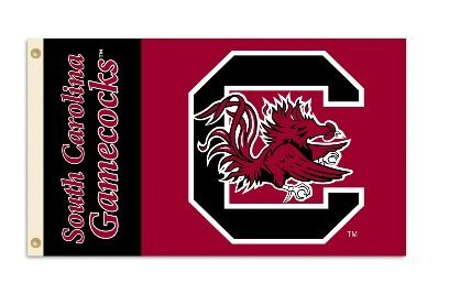 NCAA South Carolina Fighting Gamecocks 3-by-5 Foot Flag With Grommets