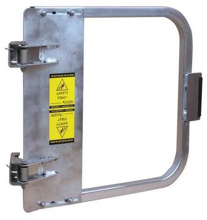 PS DOORS LSG-24-ALU Ladder Safety Gate Mild Carbon Steel, Aluminum, Fits Opening 22-3/4'' to 26-1/2'', Each