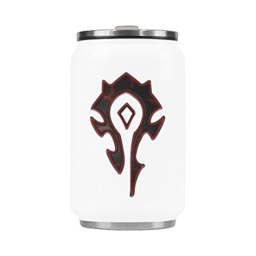 Water Bottle World Of Warcraft Horde Travel Mug Stainless Steel Coffee Tea Cup 10.3 Ounce