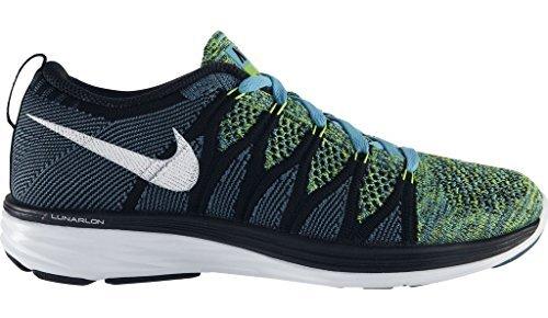new product 2096e 1d53c Nike Flyknit Lunar 2 Zapatillas de Mujer - Azul Black Blanco, UK 3 EUR 36  US 5.5  Amazon.es  Zapatos y complementos