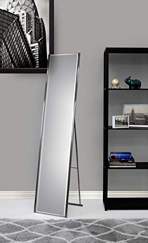 Adesso WK2444-22 Alice Floor Mirror - Powder Coated Champagne Full Length Mirror with Steel Finishing. Home Decor Accessories