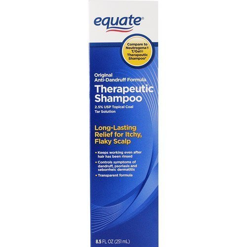 Equate Original Anti-Dandruff Formula Therapeutic Shampoo, 8.5 Fl Oz (2.5% USP Topical Coal Tar Solution) Compare to Neutrogena T/Gel Therapeutic (Coal Tar Topical)