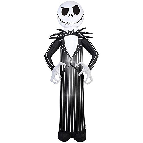 Halloween Inflatable 7' Standing Jack Skellington Nightmare Before Christmas Holiday Yard Prop Decoration By Gemmy
