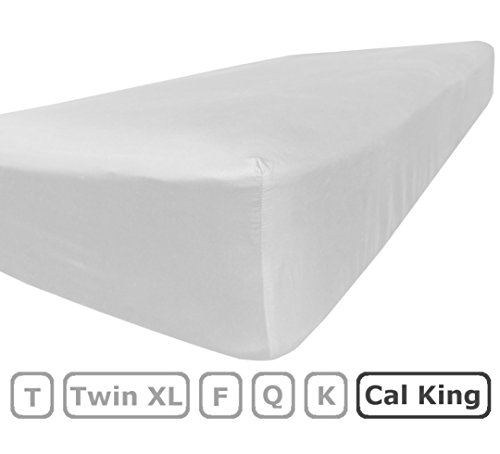 Cal King Size Fitted Sheet Only - 100% Brushed Microfiber - Deep Pocket - Flat Sheets Sold Separately for Set - 100% Satisfaction Guarantee - Fitted Sheet King Silk California