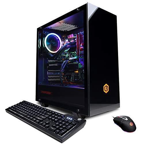 CYBERPOWERPC Gamer Supreme Liquid Cool Gaming PC, AMD Ryzen 7 2700X 3.7GHz, AMD Radeon RX 5500 XT 8GB, 16GB DDR4, 480GB SSD, 1TB HDD, WiFi Ready & Win 10 Home (SLC8280A2, Black)