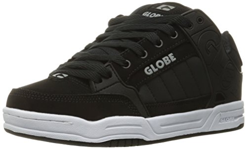 Globe Mens Tilt Skateboarding Shoe, Black/Black/White, 7.5 M US