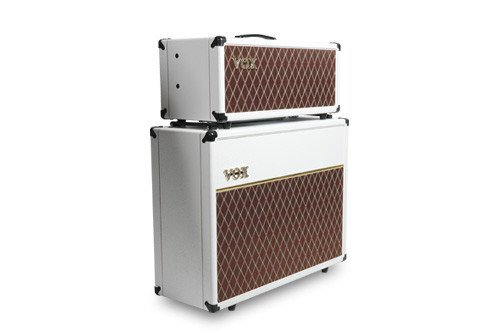 Vox AC15CH-WB Head & V212C-WB 2x12 Cabinet Limited Edition White Bronco Set w/Celestion Creambacks by Vox