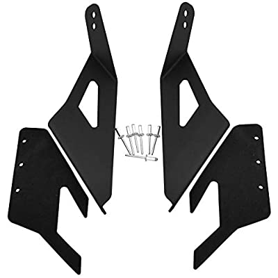 GS Power's Upper Windshield Mount LED Light Bar Brackets for 52 inch Curved Lightbar | Compatible with 2014-2020 Chevrolet Chevy Silverado Suburban Tahoe & GMC Sierra Yukon: Automotive