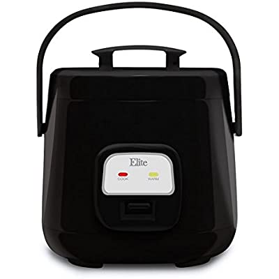 Click for Elite Cuisine ERC-135B Maxi-Matic 4 Cup Mini Rice Cooker, Black
