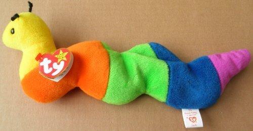 (TY Beanie Babies Inch the Worm Plush Toy Stuffed Animal 4th Gen Swing & Tush Tag)