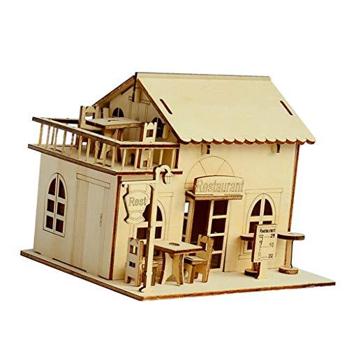 NATFUR 3D Jigsaw DIY Miniature Wooden Room Dollhouse Kit Funiture 1:24 Scale #2