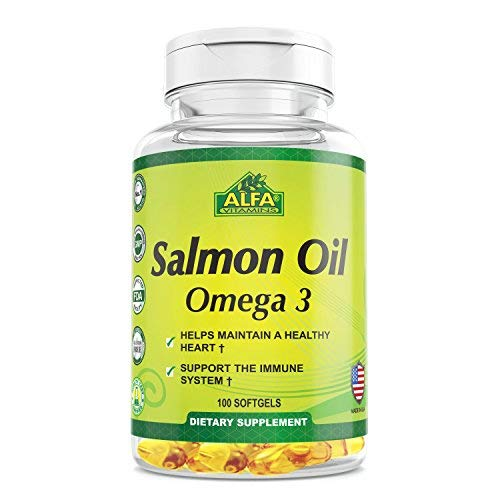 Salmon Oil 100 Softgels - Fish Oil - EPA - Dha - Essential F