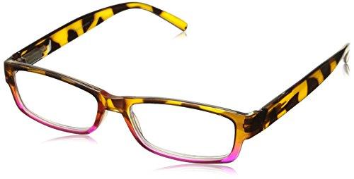 Peepers Unisex-Adult Eye of The Tiger 866275 Rectangular Reading Glasses, Tortoise/Pink