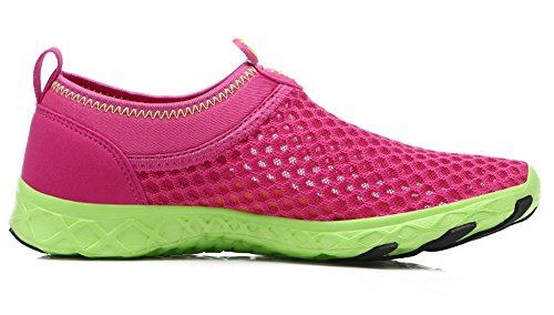 Womens Walk Drive Shoes Running Rainy Sneakers Rose Outdoor Water Breathable Aqua Ausom Red Athletic Beach xAaCqq