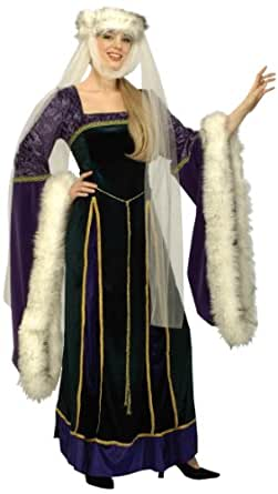 Forum Designer Deluxe Medieval Noble Lady Costume, Multi, Small