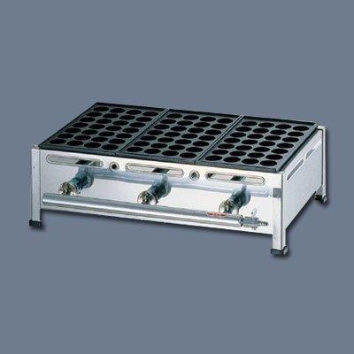 関西式たこ焼器(28穴) 2枚掛 LPガス 410×350×H180mm   B0163QY5ZK