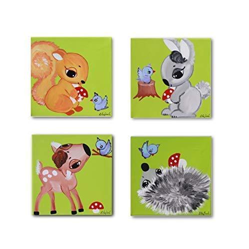 Babyzimmer Bilder Set Kinderzimmer Bilder Waldtiere Bilder Set
