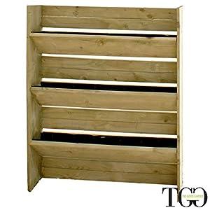 TheGoodGarden Pannello in Legno Veggy Verticale a 3 Contenitori per l'orto e Il Giardino 80 x 15 X 120 cm 3 spesavip