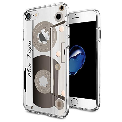 Cover Case Cassette - Cocomong Cute Retro Cassette Tape Case Design for iPhone 7 iPhone 8 Case 4.7