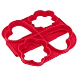 LiPing Egg Mold Make Perfect Cooking Four Holes DIY Pancakes Tool Fried Egg Mold or Pancake Rings Egg Cooking Rings (13.3X6.29X0.39)