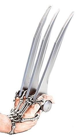 Wolverine Cosplay HD Foam Claw X Men Prop Safe Weapon Logan Blades (SINGLE) (Wolverine X Men Claw Silver)