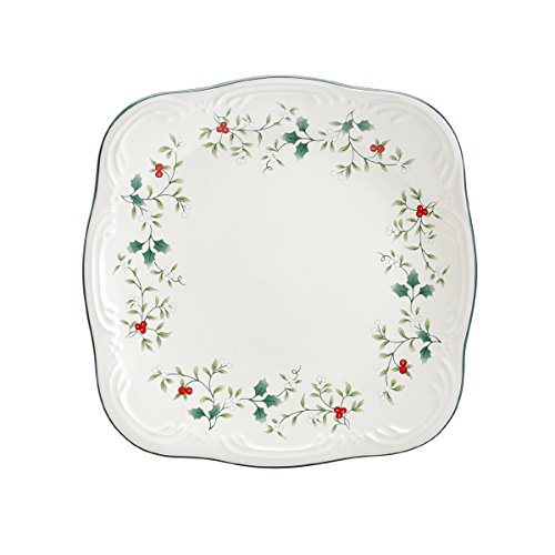 "Pfaltzgraff Winterberry Stoneware Square Salad Plate, 8.5"", Assorted"